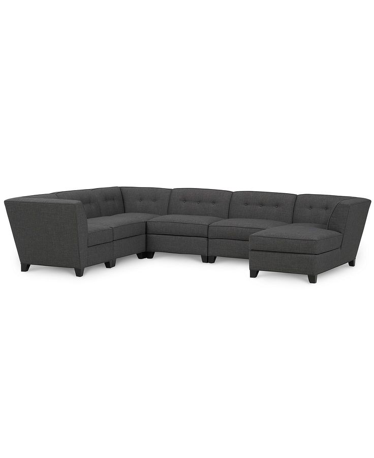 harper fabric 6 piece modular sectional with chaise With harper fabric 6 piece chaise modular sectional sofa