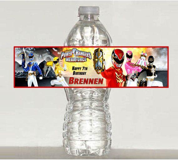 Power Rangers Megaforce Personalized Gloss Water Bottle