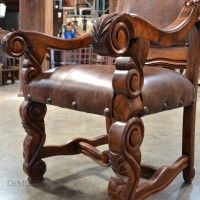 The Hoja Carved Dining Chair Features Intricate Hand Carved Legs And  Accents. Mexican FurnitureRustic FurnitureFurniture DecorFurniture  ManufacturersHand ...