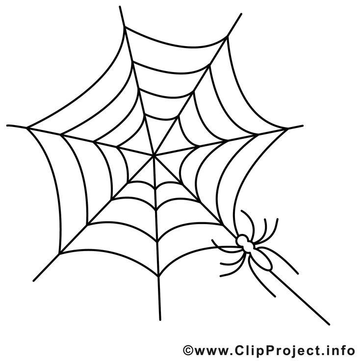 malvorlagen halloween spinnennetz
