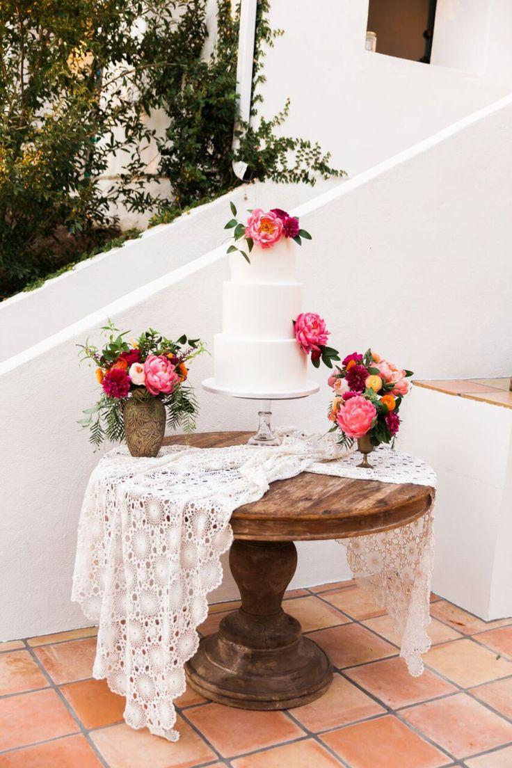 white three teir wedding cake