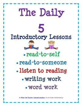 FREE Daily 5 introductory lessons for the SMART Board and Printable including an introduction to Word Work. http://www.wiseowlfactory.com/BookaDay/free-literacy-resources