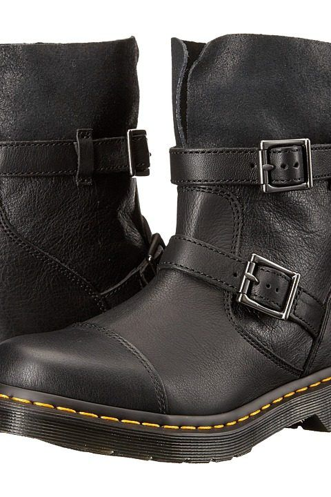 Dr. Martens Kristy Slouch Rigger Boot (Black/Virginia Darkend Suede) Women's Pull-on Boots - Dr. Martens, Kristy Slouch Rigger Boot, R20876600, Footwear Boot Casual Pull-on, Casual Pull-on, Boot, Footwear, Shoes, Gift, - Street Fashion And Style Ideas