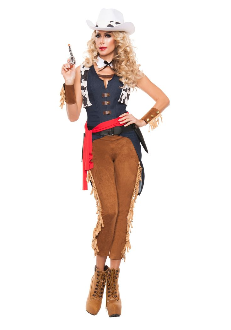 norwegian female in cowgirl outfit