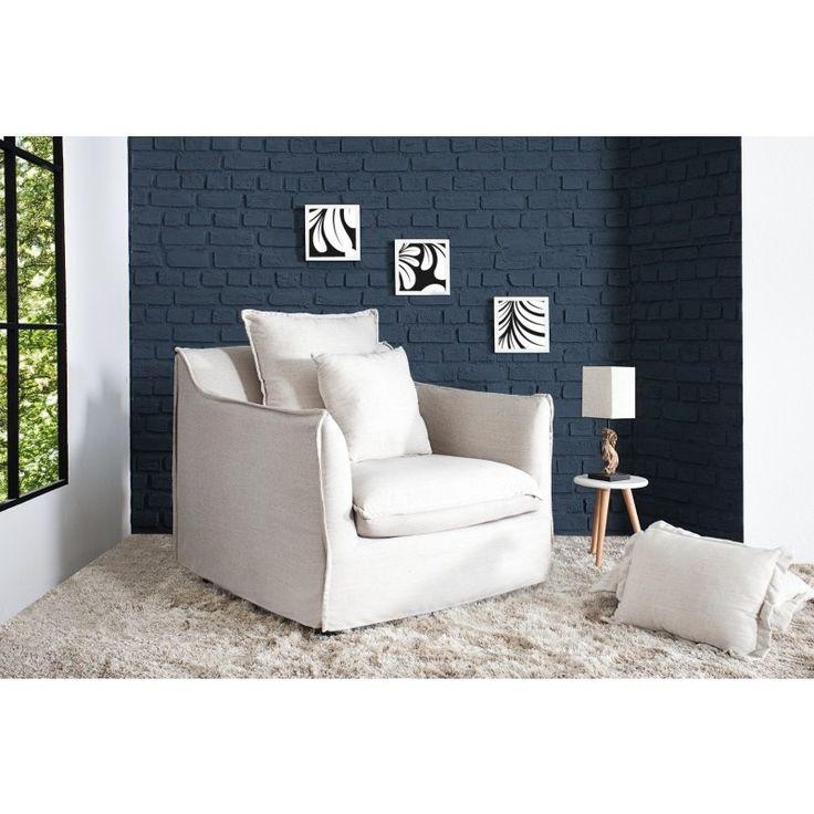 Moderne stoel Heaven linnen wit - 35968