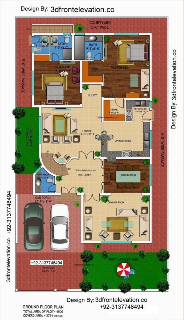 Best House Plan For Ministry Of Interior Employees Cooperative Housing Scheme Miechs Hire Architect House Design Drawing Indian House Plans House Layout Plans