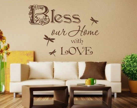 Bless Our Home Wall Decal Quote Part 91