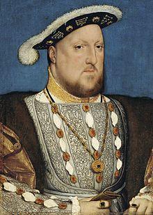 Henry par Hans Holbein le Jeune en 1537 Portrait d'un homme joufflu à la courte barbe rousse portant un manteau finement brodé