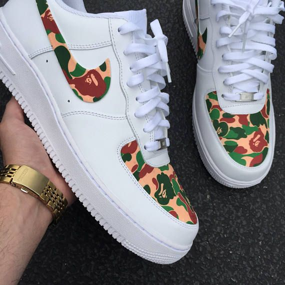 Custom Nike Air Force 1 Low. ***FABRIC is CUSTOM PRINTED ...