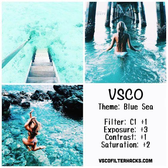 Blue Sea Instagram Feed Using VSCO Filter C1
