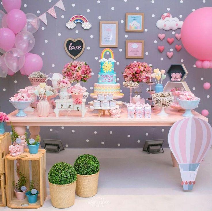 """Lot of fun on Instagram: """"Ontem caiu uma chuva de amor no chá da Malu!!! Muito amor por essa decoração! @cidialuize #chadebebe #festachuvadeamor #festaslotoffun…"""""""