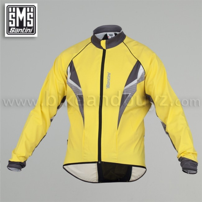 Giubbino ciclismo Antivento windstopper Santini Radic giallo.   Santini cycling windstopper jacket Radical blu #ciclismo #abbigliamento #santini #jacket #windstopper
