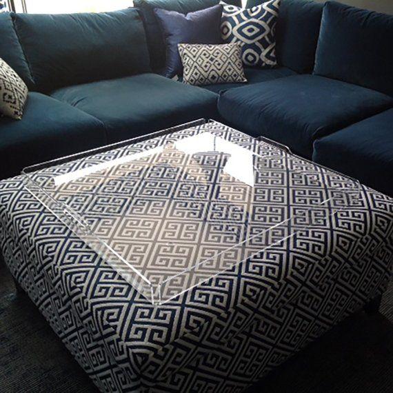 Footstool Tray Or Ottoman Tray Acrylic Tray Serving Tray Etsy Ottoman Tray Acrylic Tray Acrylic Serving Trays