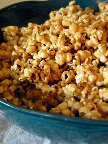 Peanut butter popcorn. So dangerous, and so good, this recipe.
