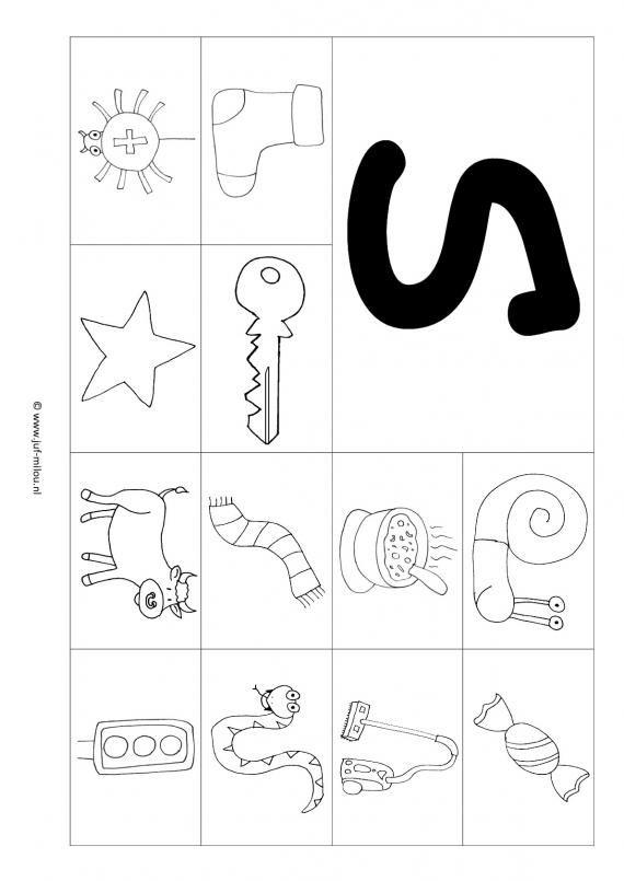 Werkbladen - taal - letters leren ~ Juf Milou
