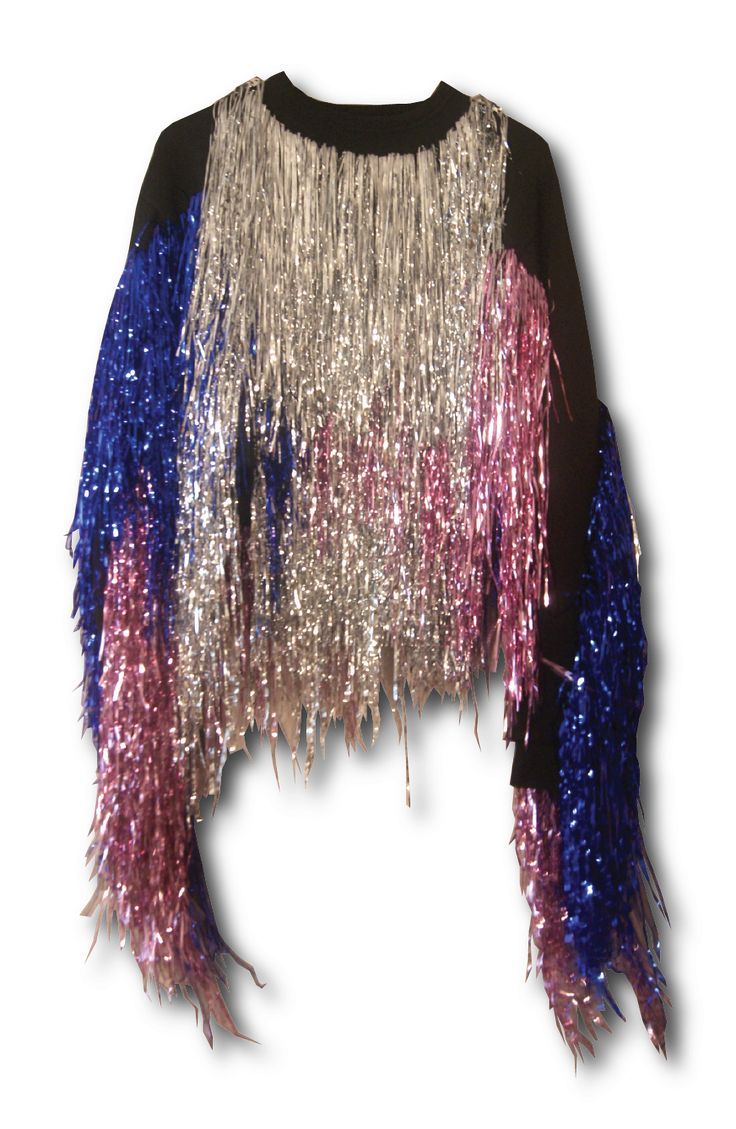 tinsel jumper, so fabulous!!