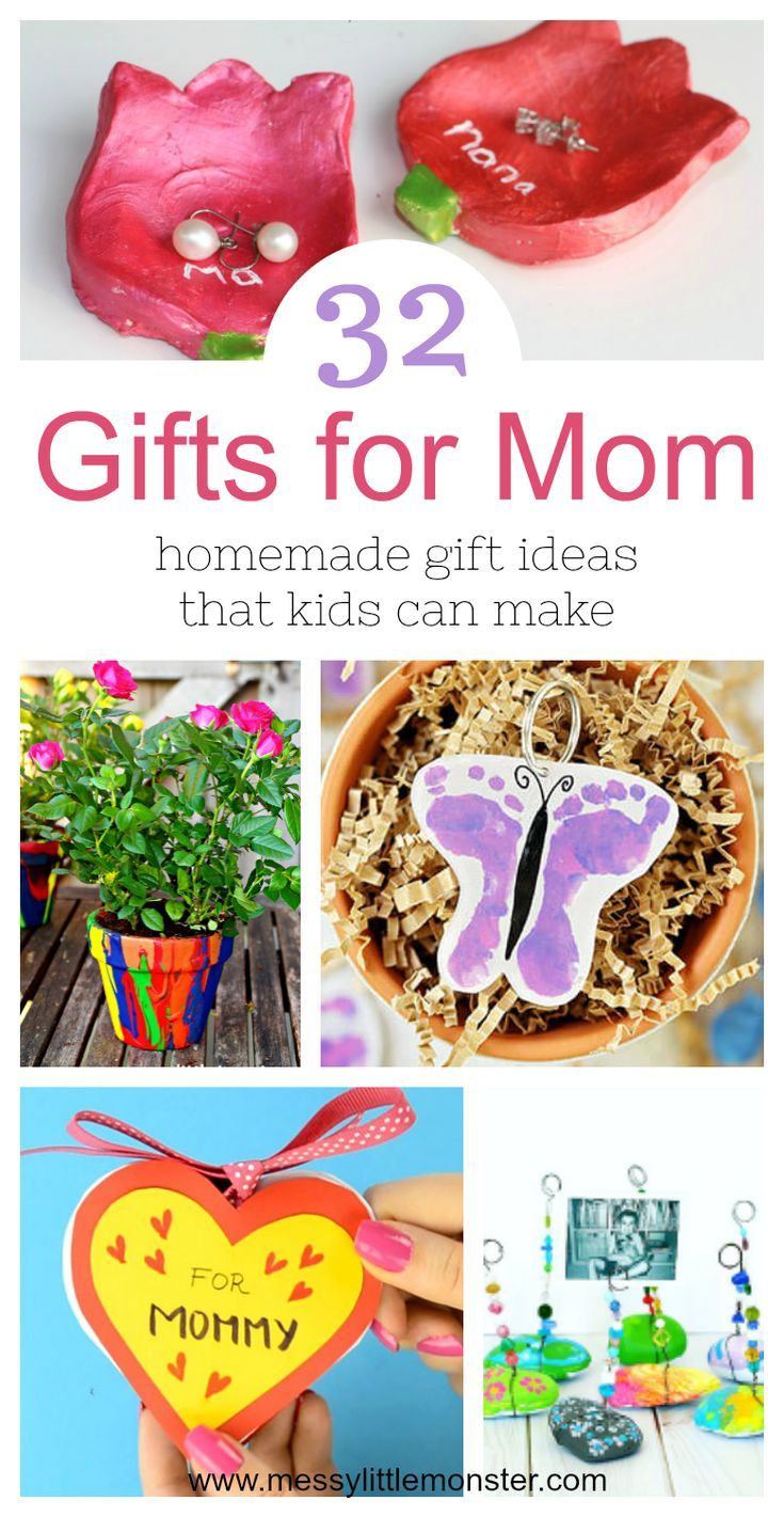 Gifts for Mom from Kids – homemade gift ideas that kids can make ...