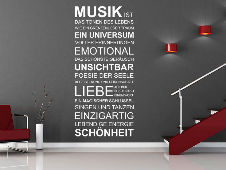 Wandtattoo 'Musik ist'... von WANDTATTOO.DE