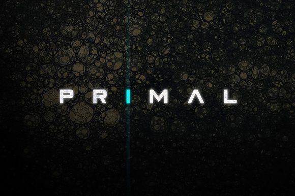 Primal - Futuristic Font by Tugcu Design Co. on @creativemarket