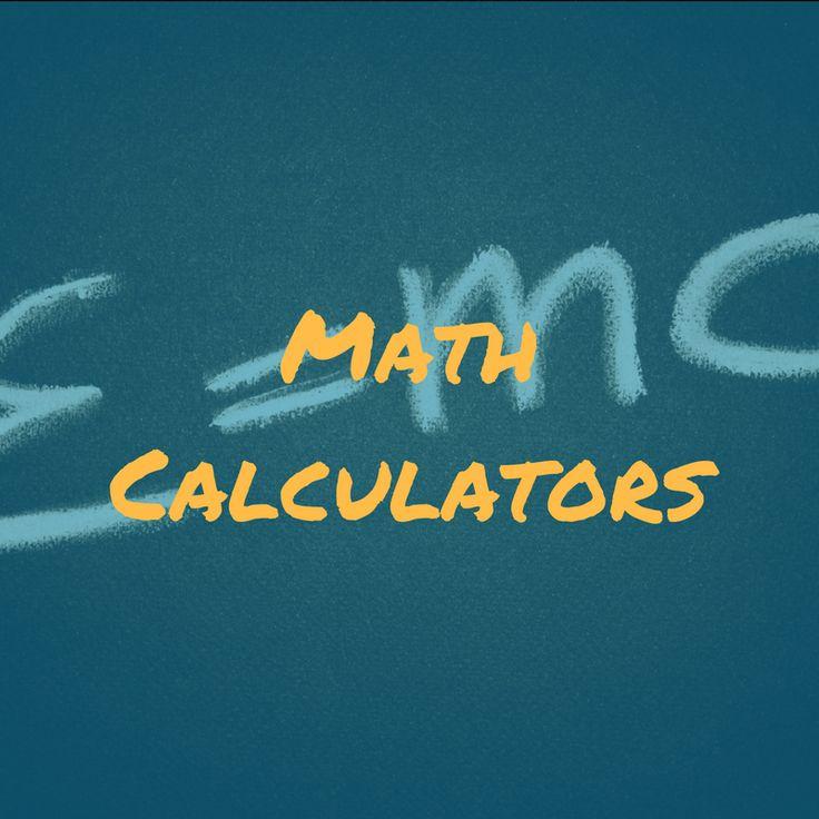62 best Math Calculators images on Pinterest | 4th grade math, 2nd ...