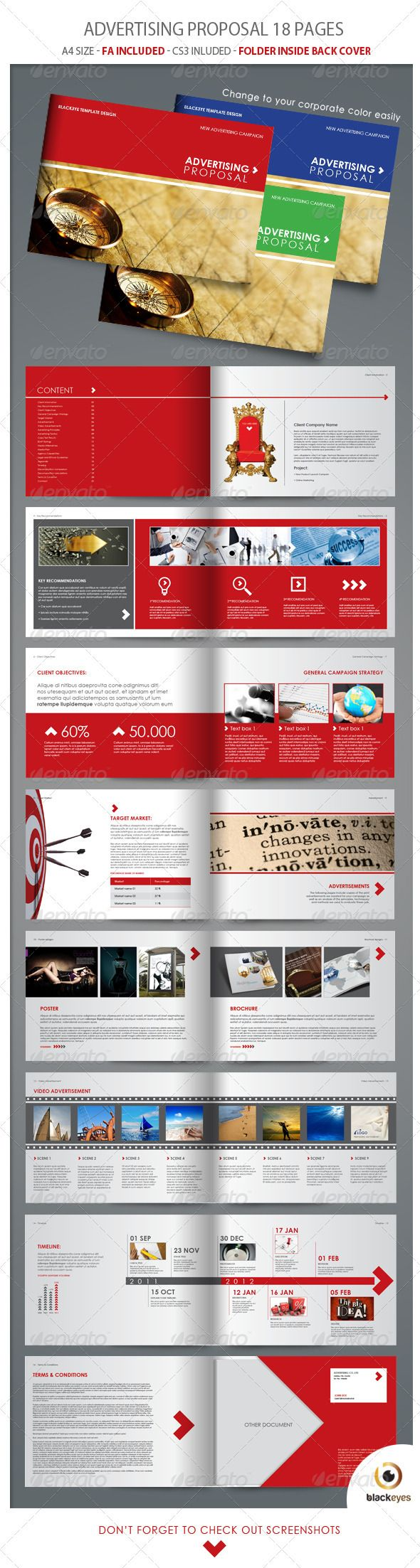 Advertising Proposal - Proposals & Invoices Stationery