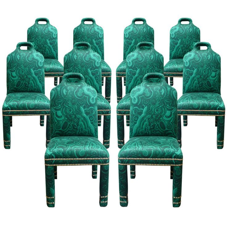 Set of 10 quotHuttonquot Malachite Chair Modern and Room : 5dfee9a21223f60b944b89c5b7b7f128 modern dining room chairs rock on from www.pinterest.com size 736 x 736 jpeg 82kB