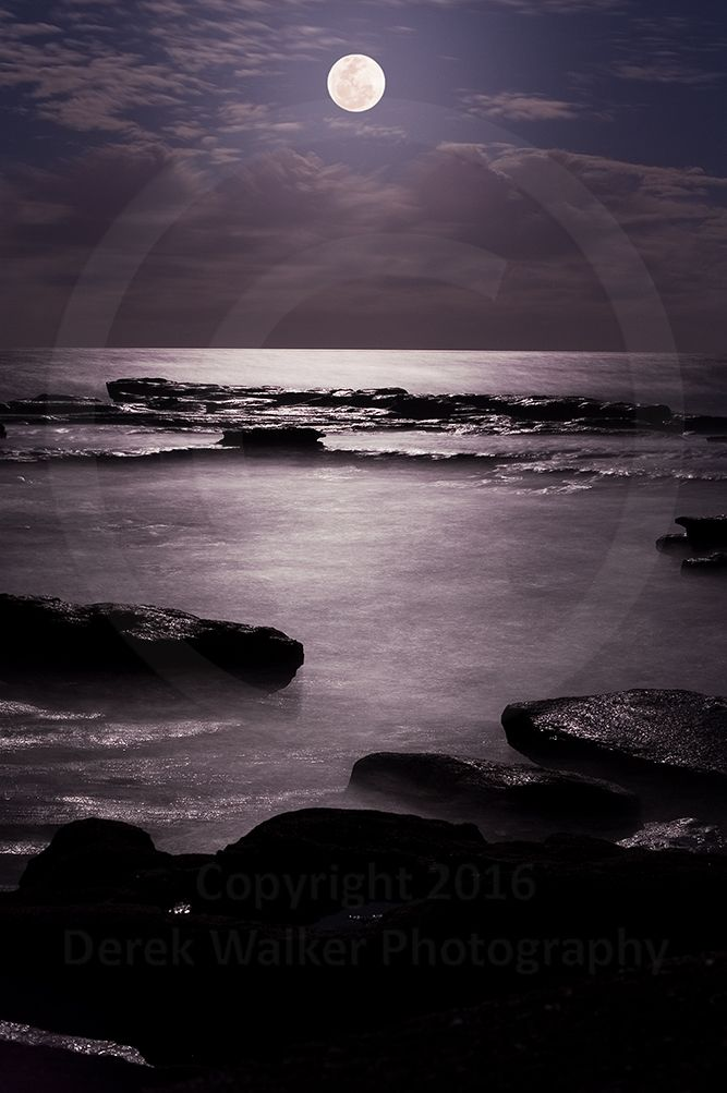 Moonrise at the Coloundra Headlands on the Sunshine Coast, Queensland, Australia. For image licensing enquiries, please feel welcome to contact me at derekwalker73@bigpond.com  Cheers :)