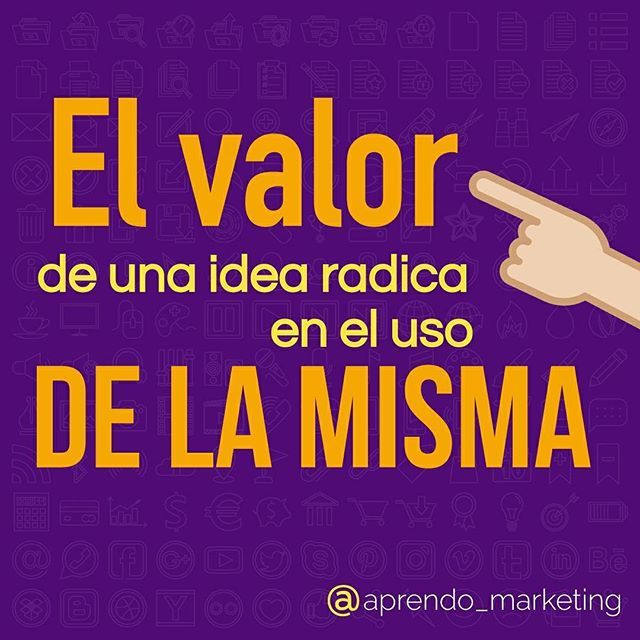 Reposting @aprendo_marketing: Lo importante no es tener la idea del millón de dólares si no saberla llevar a cabo. | #FishingTalent #marketingdigital #contentmarketing #marketing #marketingonline #marketingtips #Tecnología #marketingexpert  #tips #strategy #marketingstrategy #marketingsocial#marketing101 #redessociales #facebook #instagram #MarketingDecontenido #marketingstrategies #emprendimiento #Miami #usa #blog