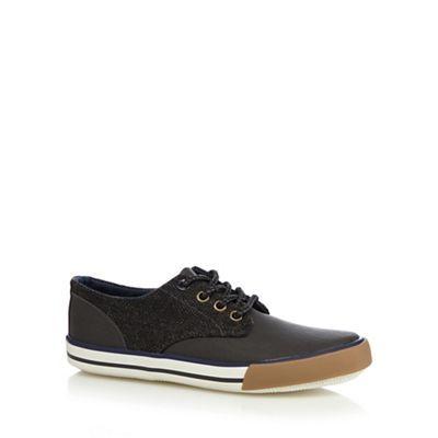 bluezoo Boy's grey herringbone side lace up shoes- at Debenhams.ie