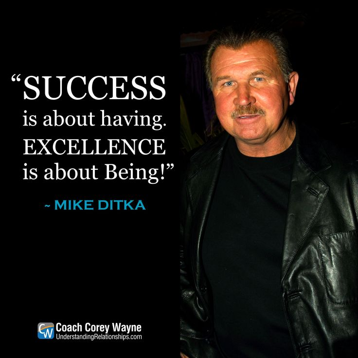 "#mikeditka #nfl #football #coaching #excellence #talent #training #selfdetermination #performance #winning #success #coachcoreywayne #greatquotes Photo by Kevin Mazur/WireImage ""Success is about having. Excellence is about Being!"" ~ Mike Ditka"