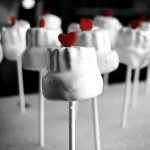 DIY Cake Pops or Marshmellow Pops (& easily could use food coloring to get the colors you want)