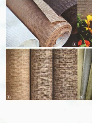 Hand-woven earth-friendly hemp burlap wallcovering - sustainable and biodegradable
