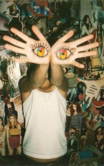 """""""They took my eyes, I made my own."""" A dominus they meet who cannot see so she developed her own eyesight through tattoos on her hands"""