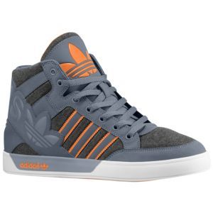 adidas Originals Hard Court Hi Big Logo - Men's - Basketball - Shoes - Dark  Grey
