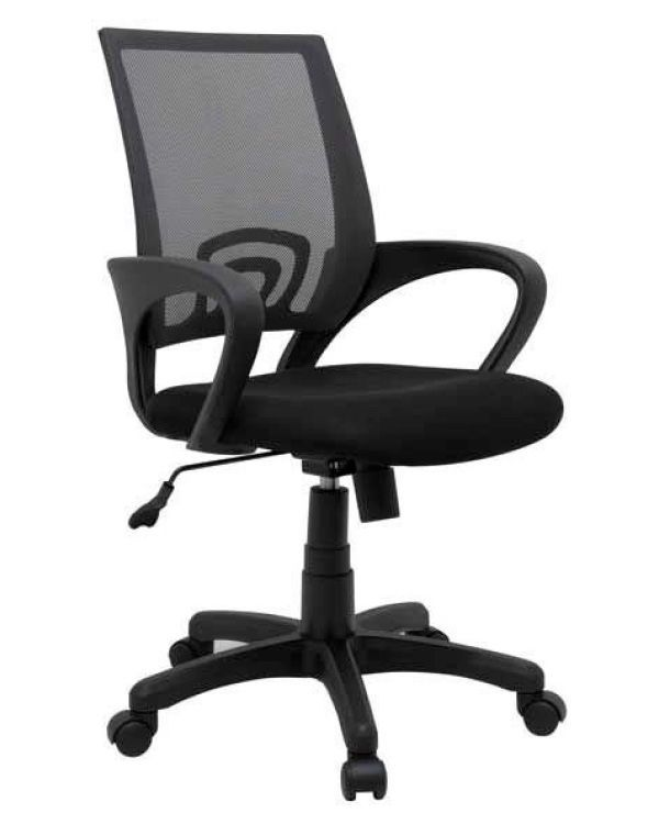 Black Mesh Fabric Office Chair 1121 Bk With Images Black
