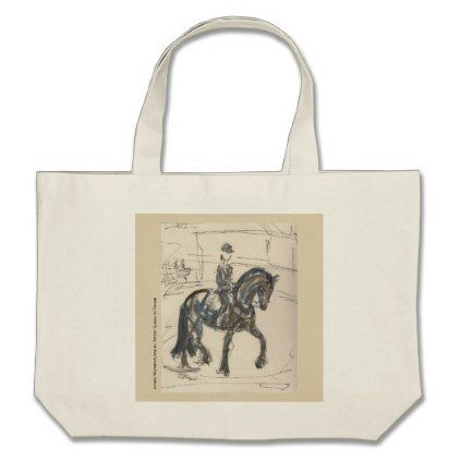 Tote Bag for Horse Lovers - watercolor gifts style unique ideas diy