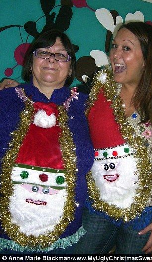 diy ugly sweater tree | The ugliest Christmas sweaters ever? From flashing lights to bauble ...