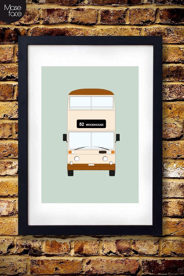 Sheffield+Bus+Print+Poster £12.00