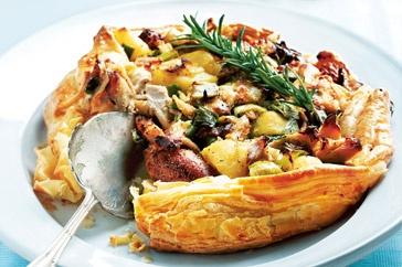 Chicken, chorizo & potato pie - Monday night's dinner.