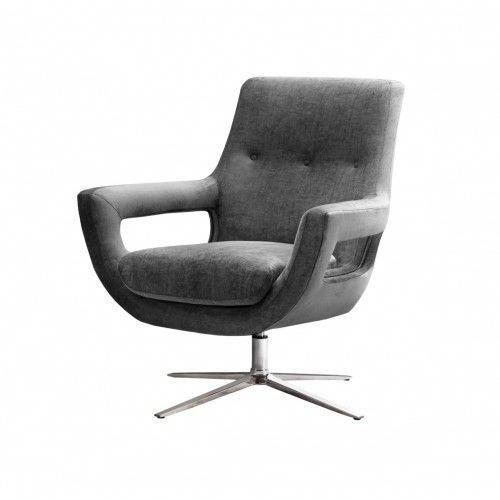 Ikea Officedesk Ideas: Grey Velvet Swivel Office Desk Chair Silver Base