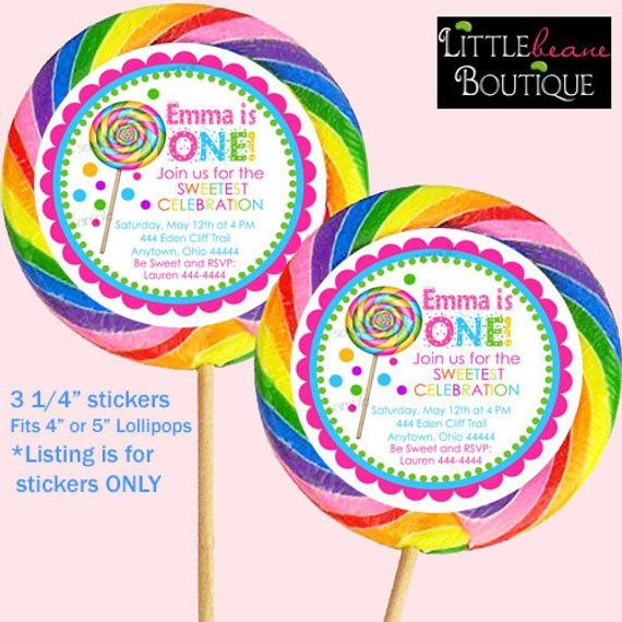 5 Unicorn Sprinkles Large Round Lollipops