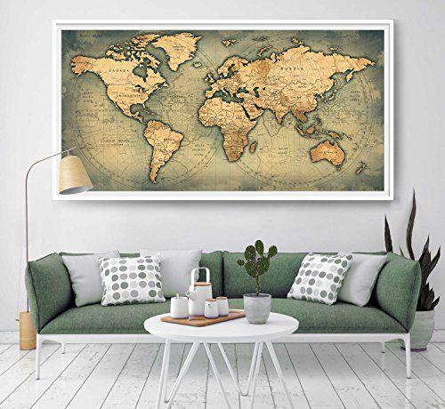 39 best amazon world map images on pinterest world maps extra giant world megamap large wall map matte artist poster https gumiabroncs Gallery