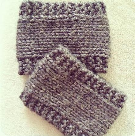 Easy Latte Boot Cuffs | You won't believe how easy this boot cuffs knitting pattern is.