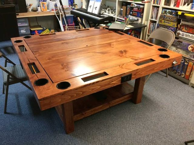 Build a Gaming Table for $150! | Board Game Geek | Table of supreme sexiness!