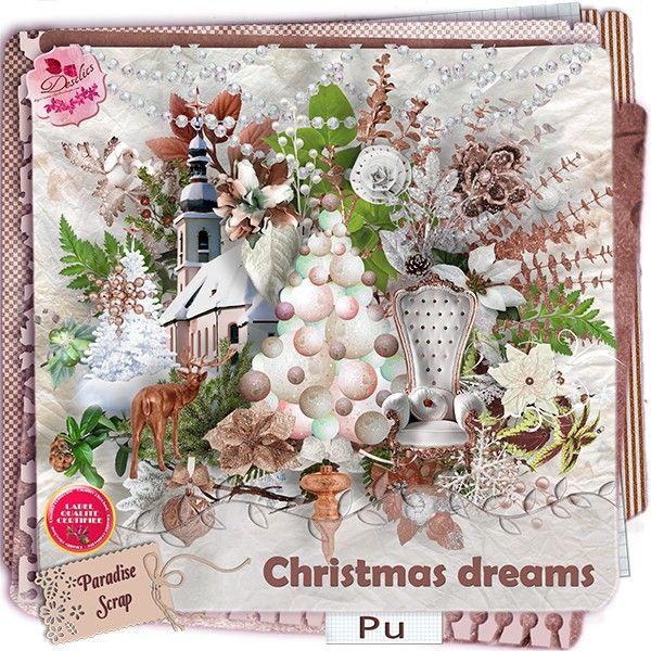 **NEW** Christmas Dreams by Desclics  Available @ http://www.paradisescrap.com/fr/376-desclics