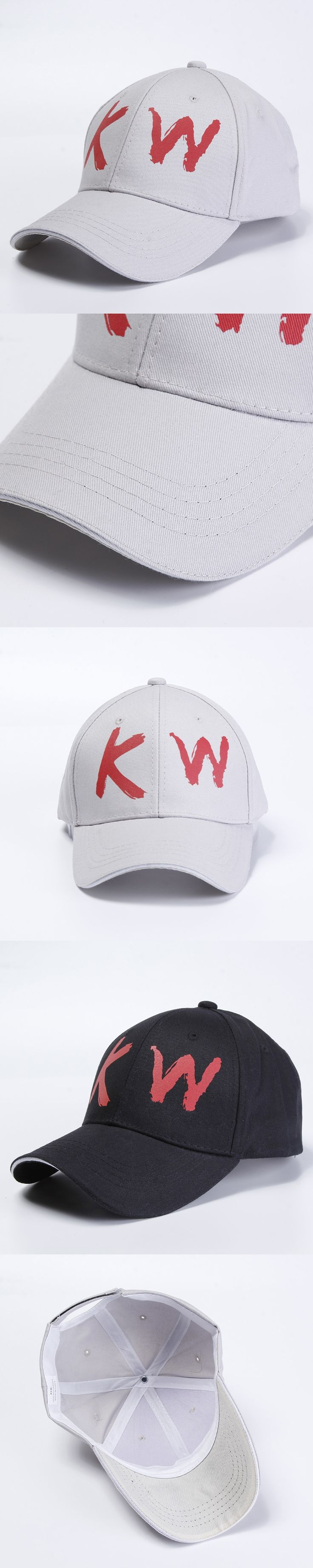 KUYOMENS 2017 Spring And Summer Fashion KW All-match Korean Fashion Peaked Cap Visor Baseball Cap Hat Men Leisure Curved Eaves