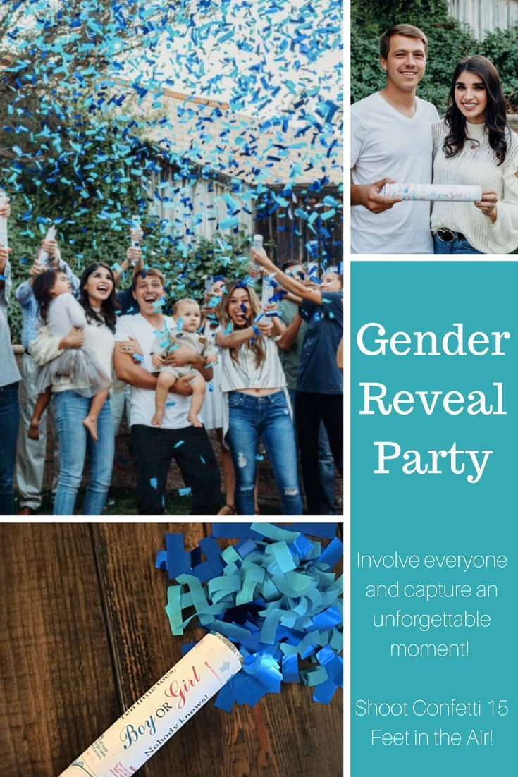 Were You Asked To Plan A Gender Reveal Party This Is Such A Cute Way To Announce The Gender And Get Everyone Involved Confetti Cannons Sale Ships Same Day