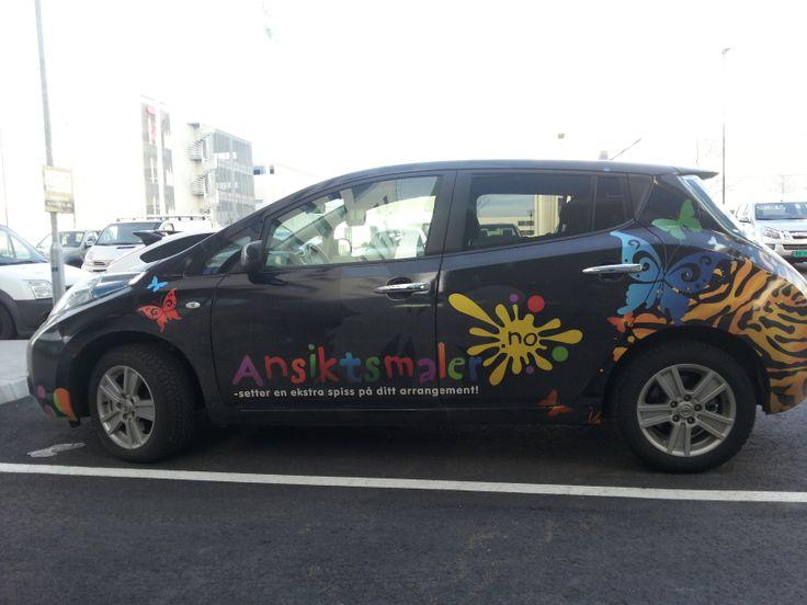 Eneste bilen i norge med rullende reklame for ansiktsmaling? eneste i europa? eneste i hele verden??? Iallfall den kuleste! @ansiktsmalerdotno #ansiktsmaling www.ansiktsmaler.no
