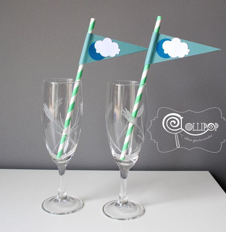 1000 images about bapt me christening party on - Serviette de table bleu roi ...