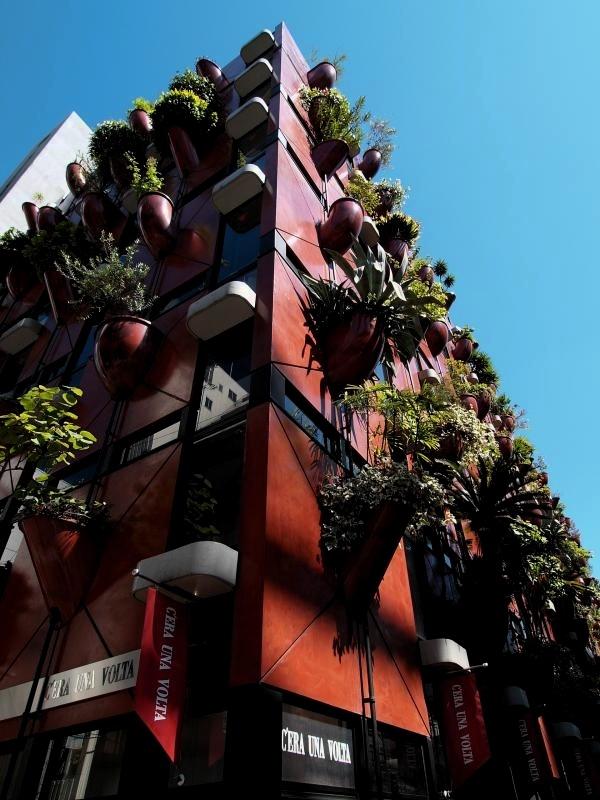 Vertical Garden on Building Walls | Osaka Japan